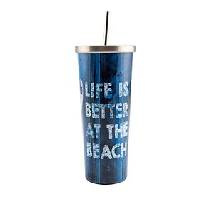 Cambridge 24-oz. Stainless Steel Beach Cup with Straw