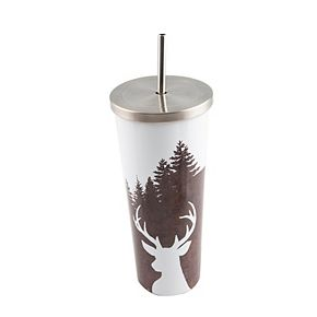 Cambridge 24-oz. Stainless Steel Tree Cup with Straw