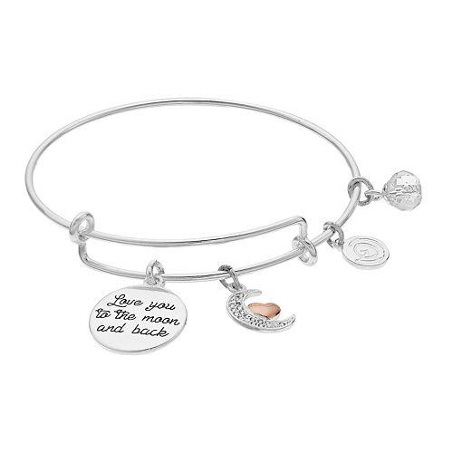 Womens love this life Love Between Mother Daughter Enamel Heart Bangle