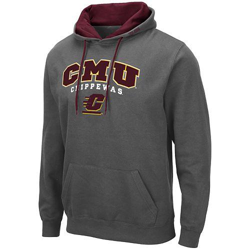 Men's NCAA CMU Chippewas Pullover Hooded Fleece