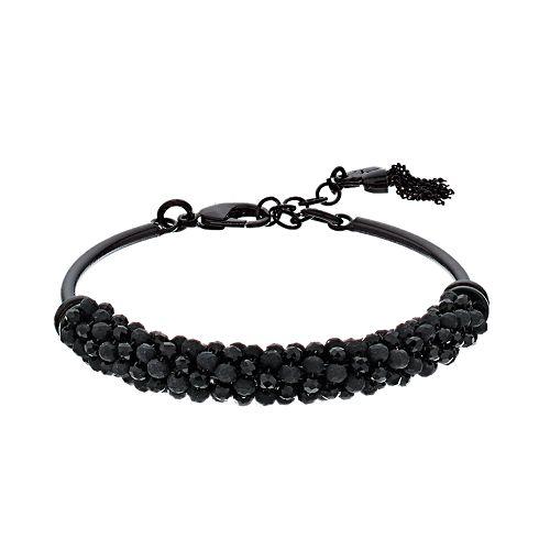 Simply Vera Vera Wang Black Beaded Cluster Cuff Bracelet