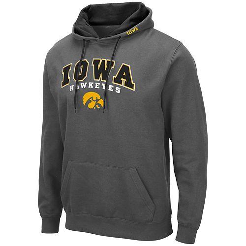 Men's NCAA Iowa Hawkeyes Pullover Hooded Fleece