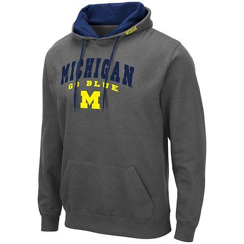 Men's NCAA University of Michigan Pullover Hooded Fleece