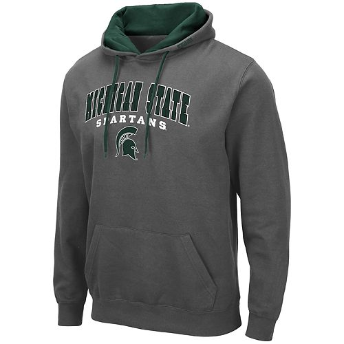 Men's NCAA Michigan State Spartans Pullover Hooded Fleece