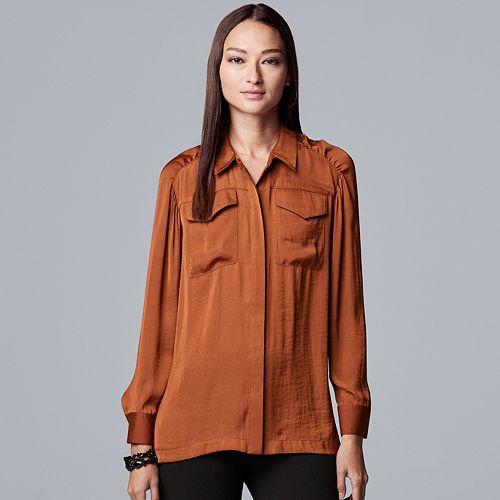 Women's Simply Vera Vera Wang Shirred Drama Shirt