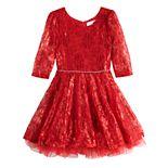 Girls 4-6x Knitworks Lace Skater Dress