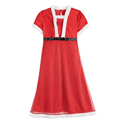 Girls' 4-8 Mrs. Claus Dress Up Gown