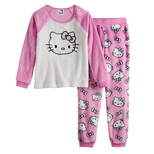 Girls 4-12 Hello Kitty 2-Piece Pajama Set
