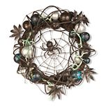 National Tree Company Black Spider Halloween Wreath