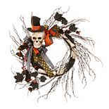 National Tree Company Halloween Skeleton Wreath