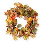 National Tree Company Decorated Maple Leaf Wreath