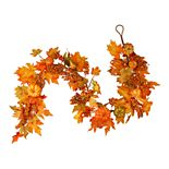 National Tree Company Maple Leaf, Pumpkin and Berry Garland
