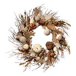 National Tree Company White Accent Harvest Wreath