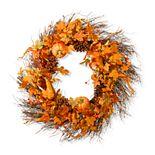 National Tree Company Maple Leaf and Pumpkins Wreath