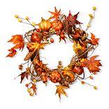 National Tree Company Maple Leaf and Pumpkin Wreath
