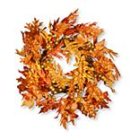 National Tree Company Maple Leaf and Berry Wreath