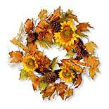 National Tree Company Autumn Sunflower Wreath