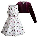 Girls 4-6x Youngland Organza Dress & Shrug Set