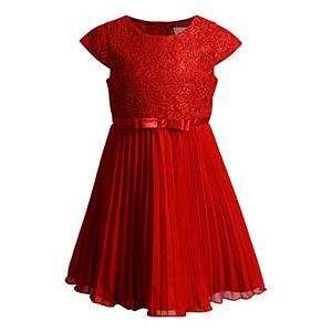 Girls 4-6x Youngland Lace Pleated Dress