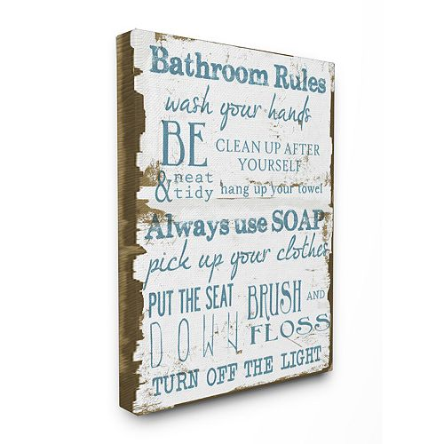 Rules Stretched Canvas Wall Art