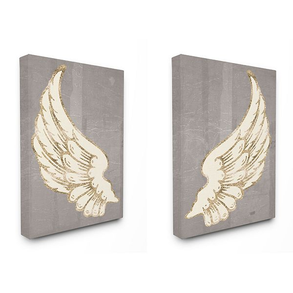 Stupell Home Decor Baroque Angel Wings Wall Art Set