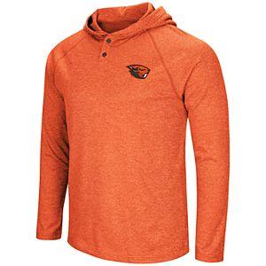 Men's NCAA Oregon State Beavers Hooded Henley Tee