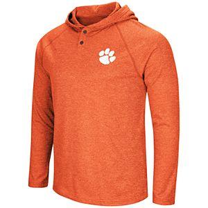 Men's NCAA Clemson Tigers Hooded Henley Tee