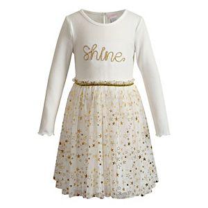 Girls 4-6x Youngland Printed Mesh Dress