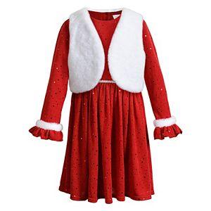 Girls 4-6x Youngland 2-Piece Dress with Vest Set