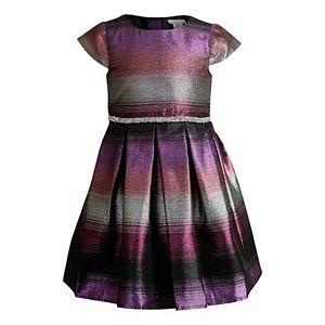 Girls 4-6x Youngland Ombre Lurex Stripe Woven Dress
