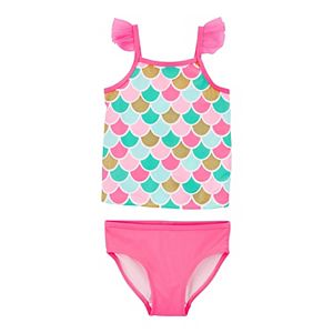 Toddler Girl Carter's 2-Piece Mermaid Tankini and Bottoms Swimset