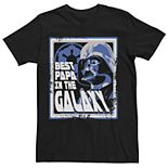 Men's Star Wars Darth Vader Best Papa In The Galaxy Graphic Tee