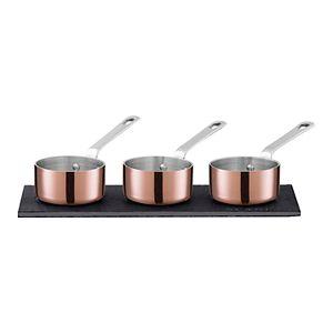Scanpan Maitre D' Copper 3-pc. Mini Saucepan Set