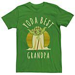Men's Star Wars Yoda Best Grandpa Graphic Tee