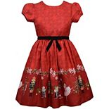 Girls 7-16 Bonnie Jean Short Sleeved Nutcracker Border Dress