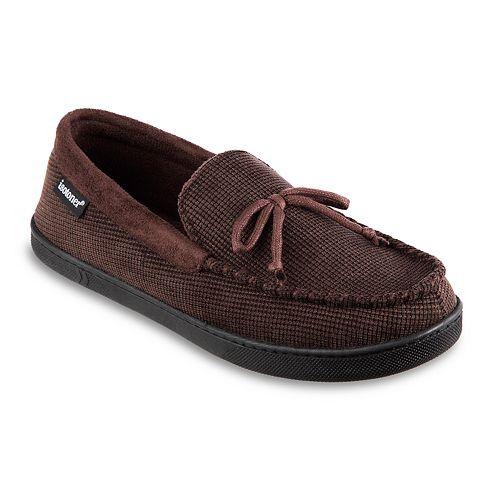Men's isotoner Mini Box Cord Luke Moccasin Slippers