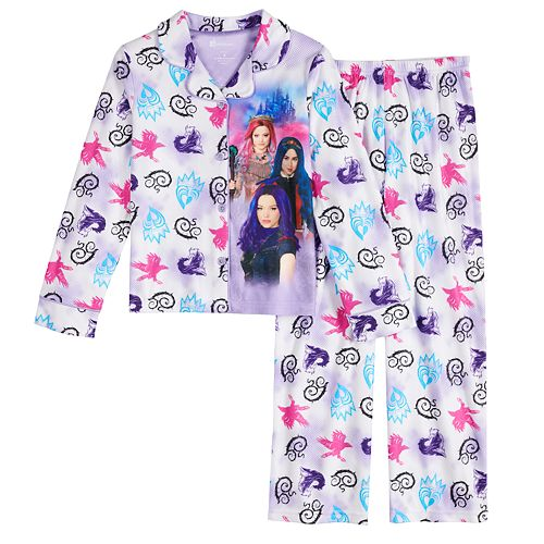 DESCENDANTS 3 Robe Size 10,12 Large,XL Girl Disney Bathrobe one piece Pajama NEW