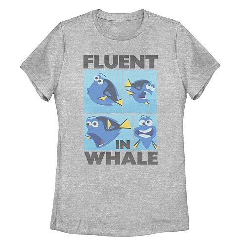 Juniors' Finding Dory Fluent In Whale Tee