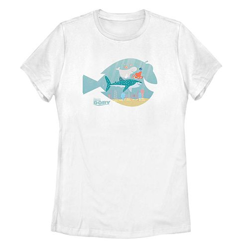 Juniors' Finding Dory Silhouette Pals Tee