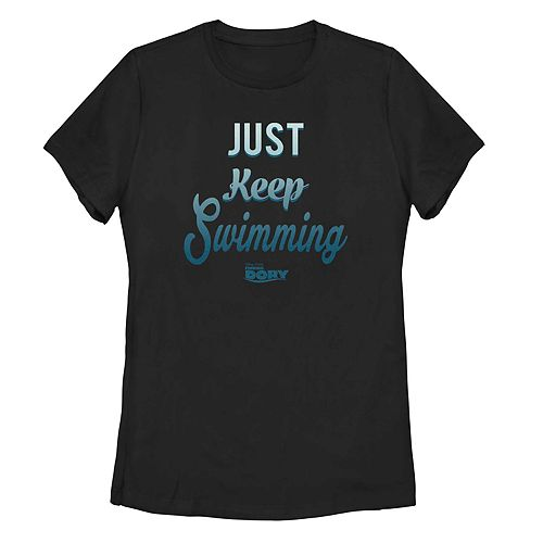 Juniors' Finding Dory Just Keep Swimming Simple Tee