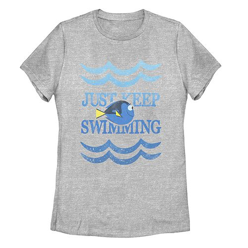 Juniors' Finding Dory Just Keep Swimming Waves Tee