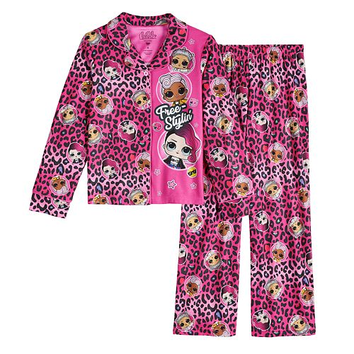Lol Surprise Doll Girls Kids Long Sleeve Pjs Pyjamas Set