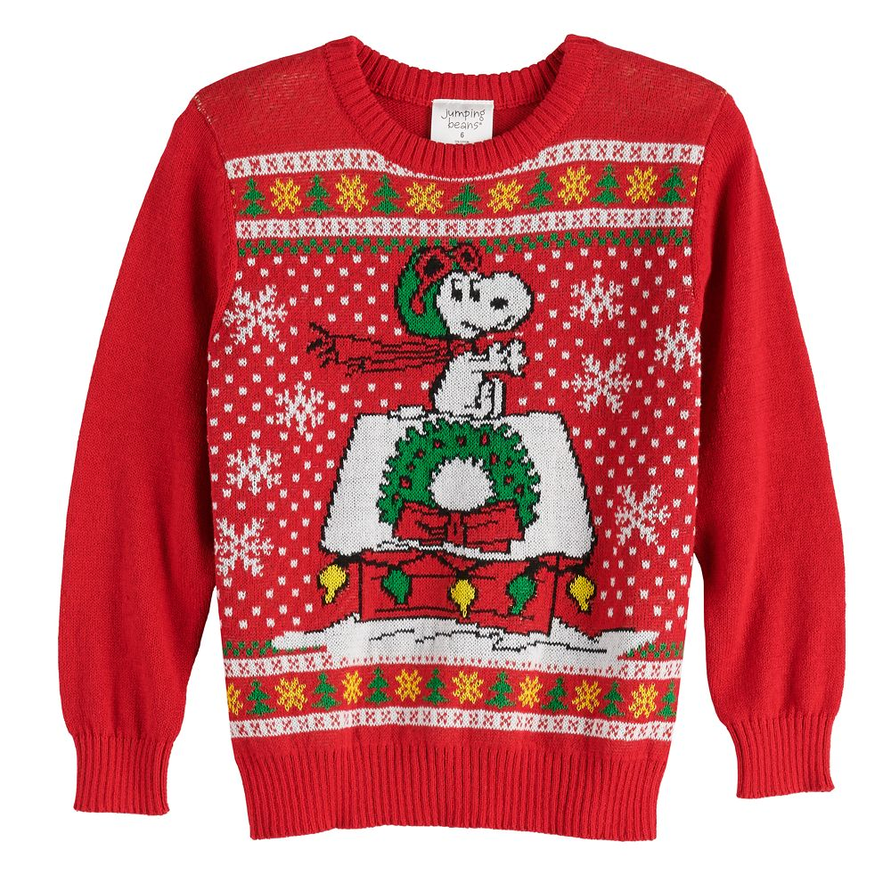 Boys 4-12 Jumping Beans® Peanuts Snoopy Holiday Sweater
