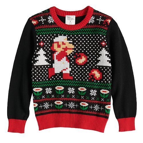 Boys 4-12 Jumping Beans® Super Mario Bros. Holiday Sweater