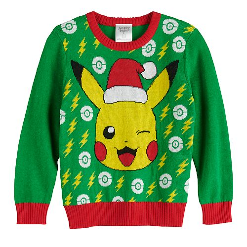 Boys 4-12 Jumping Beans® Pokemon Pikachu Holiday Sweater