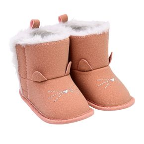 Baby Girl Carter's Cat Boot Crib Shoes