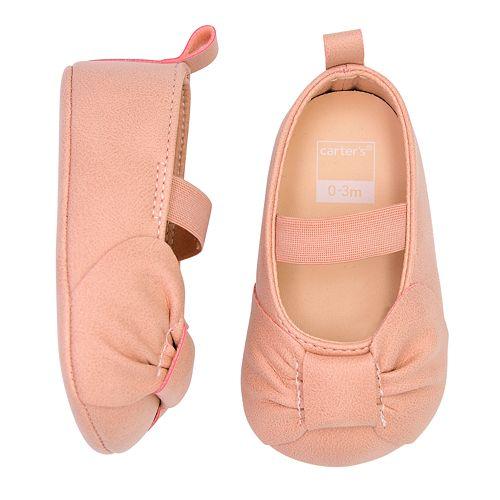 Baby Girl Carter's Maryjane Bow Crib Shoes
