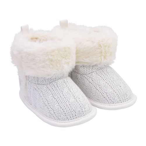 Baby Girl Carter's Cable Knit Bootie Crib Shoes