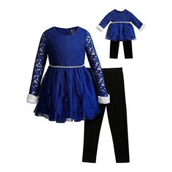 Dollie /& Me Girls 2-Piece Legging Set With Matching Dollie Outfit
