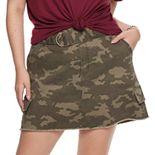 Juniors' Mudd® Plus D-Ring Skirt
